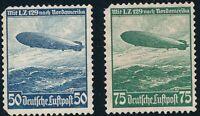 Lot Stamp Germany Sc C57-8 1936 Nordamerika Airship Hindenburg Zeppelin MNG 4