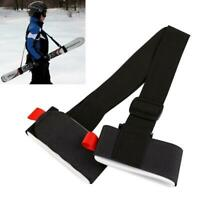 Black Adjustable Lash Straps Ski Pole Shoulder Hand Porter Carrier UK B2V3