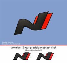 Hyundai i30N performance i30 N Logo Premium 10 YearVinyl Decal Stickers x2