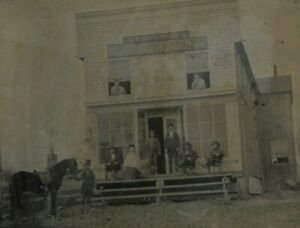 Antique Tintype Outdoor View Of L.H. Wright Central City
