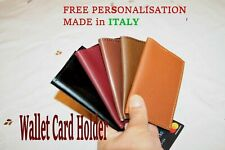 Personalized Card Holder Genuine Leather Slim Bifold Credit Card CROCODILE ITALY