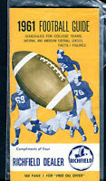 Richfield Dealer's 1961 Football Guide jhc