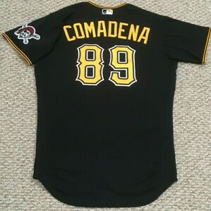 COMADENA #89 size 46 2020 PITTSBURGH PIRATES Black alt game Jersey issued MLB