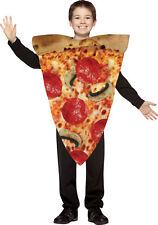 Pizza Slice Fast Food Child Costume Tunic Halloween Fancy Dress Rasta Imposta