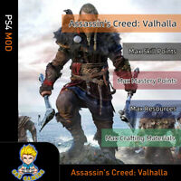 Assassin's Creed Valhalla (PS4 Mod)- Max SP/MP/Resources/Crafting Materials