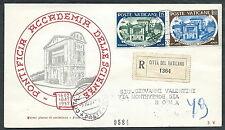 1957 VATICANO FDC RE.RU. ACCADEMIA DELLE SCIENZE TIMBRO DI ARRIVO - SV12