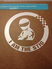 I am the Stig sticker car vinyl decal window rn