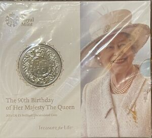 2016 Five Pound Queens 90th Birthday coin
