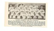 Alpine Cowboys Texas 1950 Baseball Team Picture