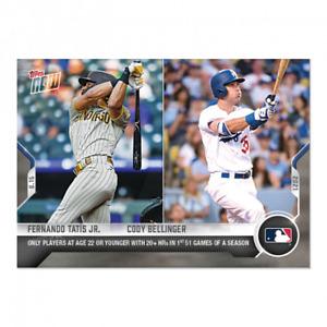Fernando Tatis Jr. / Cody Bellinger 2021 MLB TOPPS NOW Card 358 22 20+HRs in 51