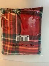 Victoria Secret Red Plaid Fleece Blanket 50x60 Brand New