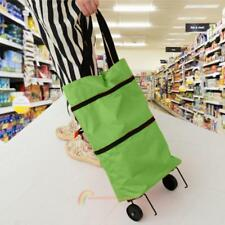 Foldable Shopping Trolley Bag Cart Rolling Wheel Grocery Tote Handbag Portable