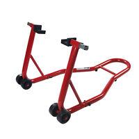 Red Motorcycle Steel  Rear Wheel Bracket Chock Lift Stands Part Bike Shop Garage