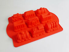 9 cell Train Carriages Silicone Bakeware Cake Jelly Ice Kids Mould Pan Birthday