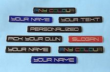 2 x CUSTOM STICKERS/DECALS - YOUR TEXT PRINTED & COATED WITH GLOSS DOMED GEL