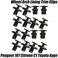 16x Clips For AYGO C1 107 FRONT WHEEL ARCH INNER LINER MUD SPLASHGUARD WING TRIM