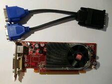 AMD ATI Radeon HD 2400XT PCI-E & Dual Monitor DVI or VGA Adapter Low Profile GPU