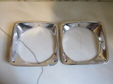 Vintage Pair of 1969 1970 1971 1972 Chevy Truck Aluminum Headlight Bezels