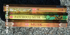 Hem Musk-Patchouli Musk-Egyptian Musk Incense 60 Stick Assorted Mix Sampler NEW