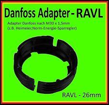 ⭐️ 💯% 🔝 1 x Adapter RAVL - 26mm Danfoss auf Thermostat M30x1,5mm Heimeier usw