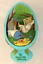 "Blue 4"" Hedgehog Figurine Marked Estate of Eh Shepard Wind In The Willows"