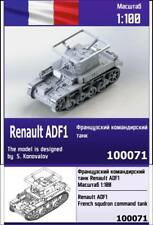 """ZEBRANO"" 100071 Renault ADF1 French squdron command tank 1/100"