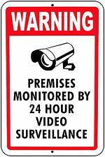 cctv Signs 24 hour Video Surveillance Home Security Cameras Aluminum Metal sign