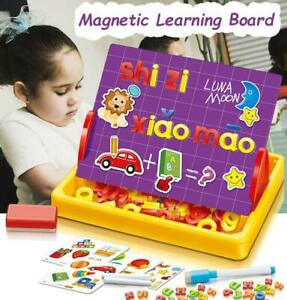 kids Learning 90 Pcs Magnetic letters Erase Chalkboard Double Sides Writing