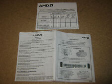 Certificato di autenticità manuale processore CPU AMD S940 Athlon 64 Dual Core