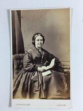 Victorian Carte De Visite CDV Photo: Lady: J Douglas & Son: Glasgow