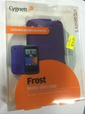 HTC Desire S Fitted Matte Slim Case Purple + Screen Guard CY0395CHFRO Brand New