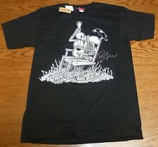 Viva La Bam Margera Signed Element Skateboards Black Shirt L PSA/DNA COA Jackass