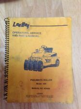 Leeboy 420 Asphalt Roller Operations Services And Parts Manual