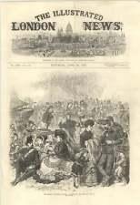 1870 Easter Volunteer Review Sketch On Brighton Beach