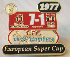 LIVERPOOL Victory Pins 1977 EUROPEAN SUPER CUP WINNERS Badge Maker Danbury Mint