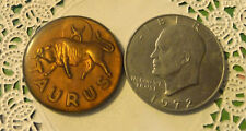 Commerative large/dollar size /heavy medal/Token /Taurus the Bull  #20