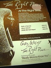 Gary Wright Right Place Right Time 1981 Promo Poster Ad