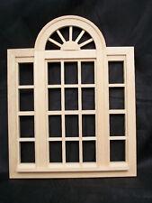 CASEMENT WINDOW PLACEMENT  - miniature dollhouse #95049 Fashion Doll 1/8 scale
