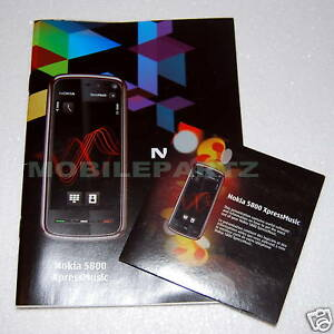 Original Nokia 5800 Xpress Music Benutzerhandbuch Handbuch & Software CD mit Ovi Suite