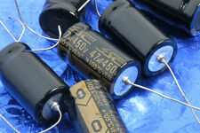 47uF 450VDC Tubular Axial Lead Polarized Electrolytic Capacitor For Tube Amp
