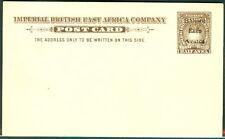 BRITISH EAST AFRICA 1895, H & G #3, ½ Anna postcard