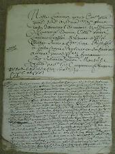 LIASSE MS XVII° : VENTE MAISON DE GLENAT (CANTAL)