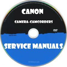 Canon Camera Camcorders Service Manuals- Latest PDFs on DVD- SRManuals