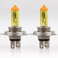 2pcs H4 100W P43T Pure Yellow Car Headlight Bulbs Bulb Halogen Lamp 12V 3000K