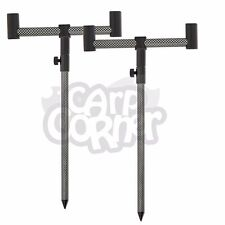 2 x 30-50cm EFFETTO CARBONIO banksticks & 2 x 13cm 2 Rod BUZZ BAR PESCA CARPA Set