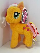 "My Little Pony Apple Jack Christmas Santa Hat 6"" Stuffed Plush New with Tags MLP"