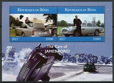 James Bond Stamps 2017 CTO Cars 007 Film Movies Cinema 2v M/S