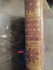 1887 Gilt Leather bound Lalla Rookh Book Thomas Moore Arabic Middle East India