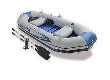 Intex Mariner 3 Inflatable Raft River Lake Dinghy Boat & Oars Set 68373EP