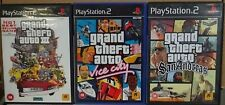 Sony PlayStation 2 PS2 Game Grand Theft Auto III & Vice City & San Andreas
